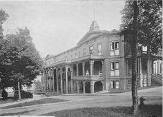 Chautauqua Institution - Athenaeum Hotel - Side View (North) - via Chautauqua Institution History and Archives  http://chautauqua.pastperfect-online.com/34268cgi/mweb.exe?request=record;id=B0C47661-6855-4FE1-8D54-121455719571;type=102#