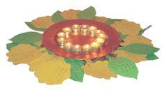 Bladeren en licht worden gebruikt als afscheidsritueel