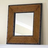 Love this square rope mirror. It would look great over our mantle. Birch Lane - Rope Mirror, Square