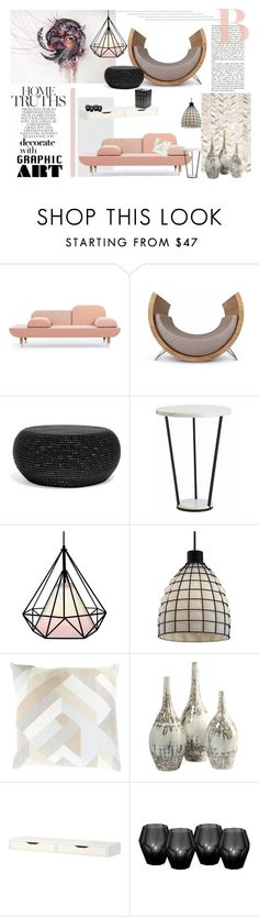 """""""Graphic Art"""" by lizriepen ❤ liked on Polyvore featuring interior, interiors, interior design, home, home decor, interior decorating, Arteriors, Justice Design Group, Safavieh and Eichholtz"""