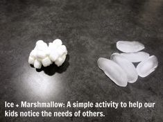 needs of others marshmallow and ice