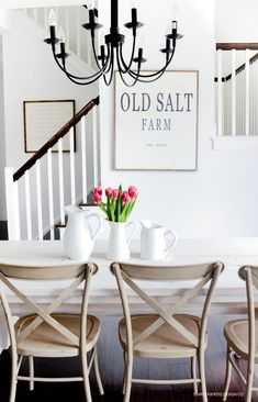 Join me for Winter at Old Salt Farm...a mini winter home tour! Neutrals, greenery, and pops of color with fresh flowers are my favorites!