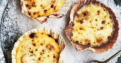 This recipe for baked-in-the-shell queenie scallops makes for an easy but impressive starter. Plus, it's a low-calorie but luxurious dish