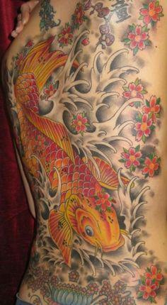 Love this koi fish tattoo.