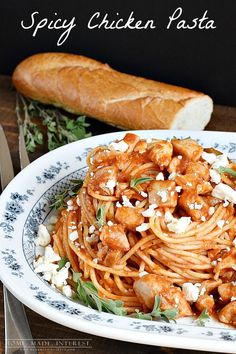 This spicy chicken pasta recipe is simple to make for an easy weeknight dinner or a fancy dinner party. #Barillalovesmoms #sponsored