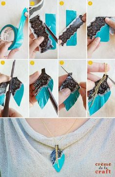 DIY Duct Tape Feather Necklace