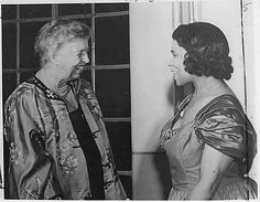 Eleanor Roosevelt and Marian Anderson in Japan, May 22, 1953. (Fourteen years after then-First Lady Roosevelt's historic resignation letter in support of Anderson.)