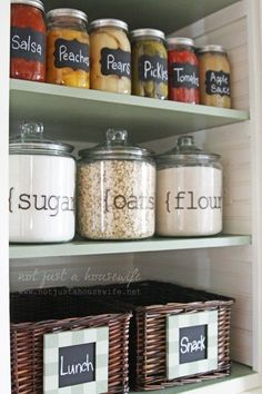 15 Beautifully Organized Kitchen Cabinets (and Tips We Learn.- 15 Beautifully Organized Kitchen Cabinets (and Tips We Learned from Each) 15 Beautifully Organized Kitchen Cabinets (And Tips We Learned From Each) Organization Inspiration from The Kitchn Kitchen Cabinet Organization, Kitchen Storage, Home Organization, Organizing Ideas, Pantry Storage, Organising, Pantry Labels, Jar Storage, Kitchen Organizers