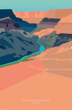 Geometric Landscape Illustration Art 60 Ideas For 2019 Art And Illustration, Illustrations, Watercolor Landscape, Landscape Paintings, Landscape Art, Landscapes, We Will Rock You, Park Art, Concept Art