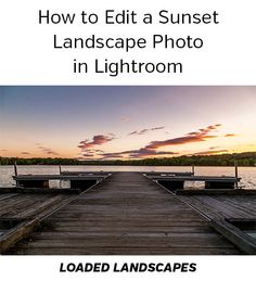 How to Edit a Sunset Landscape Photo in Lightroom. This tutorial walks through the process of editing a landscape photo in Lightroom, showing the specific settings that are used in Lightroom's develop module. It also shows how to use the graduated filter to enhance the sky.