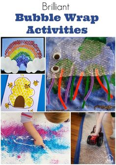 Do you love to use ordinary house-hold materials in your activities? Have you tried using Bubble Wrap? It is is our all-time favourite junk art material. Some of our best (and most popular) posts on the blog so far have been Bubble Wrap Crafts.  It's perfect to use in kids arts and crafts activities and it is surprising how many different use you can find for it.