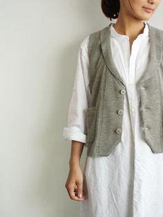 kokotistyle.blog - the vest  Looks like my French nightie under the vest!