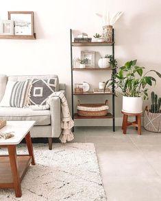 #FlooringStore Boho Living Room, Home And Living, Plants In Living Room, Living Room Neutral, Small Space Living Room, Living Room Corners, How To Decorate Small Living Room, Modern Small Living Room, Living Room White Walls