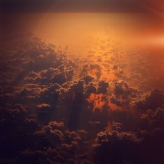 Cloud Sky Fly Sunset Red Nature Flare #iPad #wallpaper