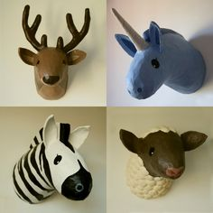 Awesome! We are building a jungle of these for our nursery. Paper Mache Taxidermy