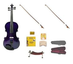 Merano 44 Size PURPLE Acoustic Violin with CaseRosin2 Sets Strings2 Bridges2 BowsTunerShoulder Rest *** Want additional info? Click on the image.