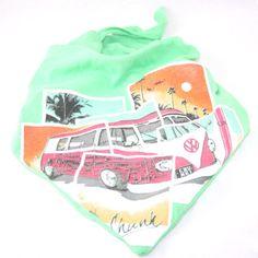 Camper Van Dog Tee-Dana | t-shirt remade into dog bandana