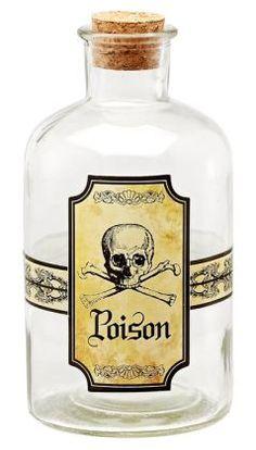 Poison Glass Potion Bottle 6.75''