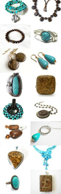 Adornments of Turquoise and Bronzite by Mark Thaler on Etsy--Pinned with TreasuryPin.com