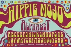Hippie Mojo Alphabet by Mysterylab Designs on @creativemarket