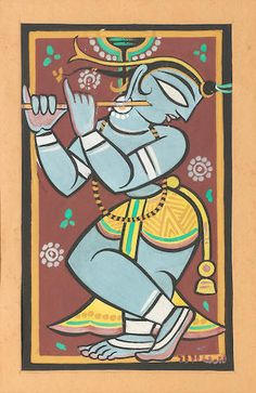 View Krishna fluting by Jamini Roy on artnet. Browse upcoming and past auction lots by Jamini Roy. Lord Ganesha Paintings, Krishna Painting, Krishna Art, Krishna Radha, Madhubani Art, Madhubani Painting, Kalamkari Painting, Worli Painting, Fabric Painting