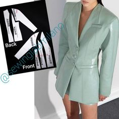 Sewing Clothes, Diy Clothes, Dress Design Sketches, Fashion Illustration Dresses, Japanese Sewing, Blazers, Ulzzang Fashion, Blouse Outfit, Dress Sewing Patterns