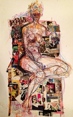 drawing/ collage by Kat Ostrow