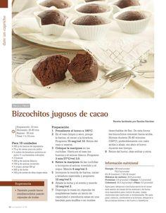 Bizcochitos jugosos de cacao Thermomix