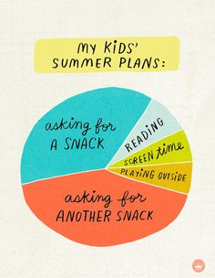 Here is a funny picture that pretty accurately depicts a parent's summer plans? For more funny quotes and memes, click through to Hallmark's Instagram! Hello Summer, Summer Kids, A Funny, Funny Pictures, Funny Quotes, Craft Ideas, How To Plan, Mom, Pretty