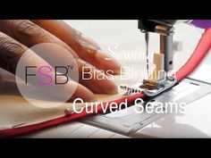 Sewing Bias Binding onto Curved Seams - YouTube. Press the tape into shape with a steam iron before sewing. myb