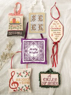 Holy Night, my contribution to 2016 edition of Just Cross Stitch Christmas Ornament magazine.