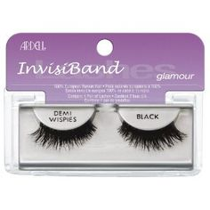 Ardell Invisiband Lashes, Demi Wispies Black, 1 Pair (Pack of 3) (Health and Beauty) http://www.amazon.com/dp/B0035LCW4S/?tag=whthte-20 B0035LCW4S