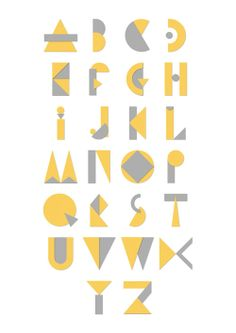 Alphabet geometry print by AmyHarrisCreates on Etsy