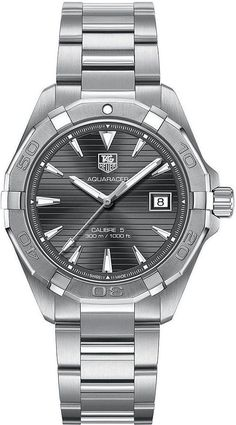 WAY2113.BA0928 Tag Heuer Aquaracer Automatic Anthracite Mens Watch calibre5 300m | eBay