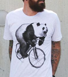 For the panda-loving pedaler. #etsyfinds