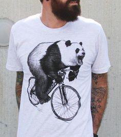 For the panda-loving pedaler. #etsyfinds