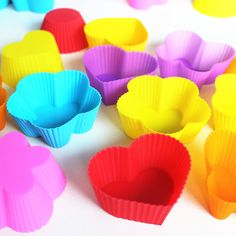 32pcs /Lot, DIY Free Shipping Wholesale 7cm Silicone Cake/pie/pudding/chocolate Mold/Cupcake Mold /Baking Mould Bakeware 7Colors