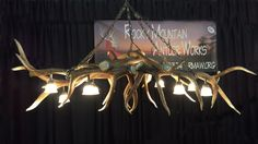 Elk Antler Pool Table / Bar Light or Chandelier