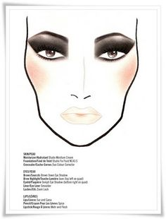 Sweet Life: Mickey Contractor MAC face charts