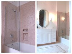 Pink done well! This bath has such a soft, girly appeal.