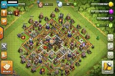 Dunkray Townhall 8 Farming Clash of Clans Layout created by Try it out in the attack simulator, see previous attacks or modify it with the base builder Clash Of Clans Troops, New Clash Of Clans, Town Hall 4, Game Coc, Clash Of Clans Account, Farming, Clan Games, Clash On, Play Online