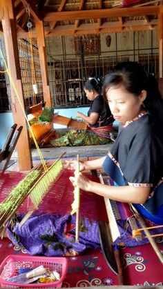 Weaving in Lombok, Indonesia