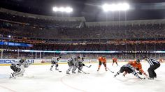 THIS DATE IN HISTORY: Jan. 25  2014: Outdoor hockey in a warm-weather setting becomes a reality for the first time when the Anaheim Ducks defeat the Los Angeles Kings 3-0 before a crowd of 54,099 at Dodger Stadium.