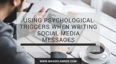 Using Psychological Triggers When Writing Social Media Messages http://www.massplanner.com/using-psychological-triggers-when-writing-social-media-messages/   via www.massplanner.com