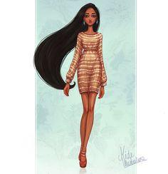 Pocahontas+by+MidaIllustrations.deviantart.com+on+@DeviantArt