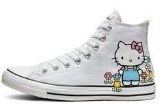 san francisco 841a8 61ce5 Converse x Hello Kitty Chuck Taylor All Star High Top white pink white. Basket  Femme ...