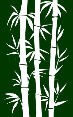 hawaiian foliage stencils | Vector of 'abstract bamboo tree. black background vector illustration'