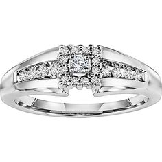 Keepsake Promise 1/5 Carat T.W. Diamond 14kt White Gold Wedding Ring white gold promise rings