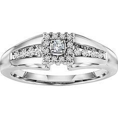 Keepsake Promise 1/5 Carat T.W. Diamond 14kt White Gold Wedding Ring white gold promise rings