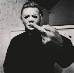 Michael Myers sign that you are number 1 on his list. Michael Myers, Slasher Movies, Horror Movie Characters, Horror Villains, Halloween Film, Halloween Horror, Classic Horror Movies, Iconic Movies, Arte Horror